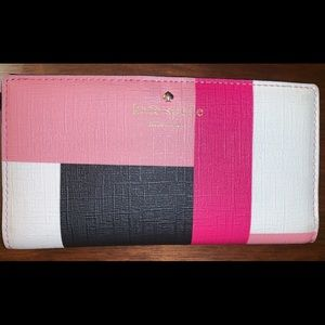 Kate Spade snap close, color block wallet